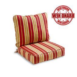 Greendale Home Fashions Deep Seat Cushion Set - Roma Stripe