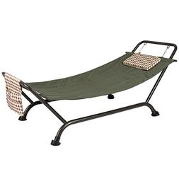 Deluxe Pillow Hammock With Stand Supports 500lb Outdoor Yard