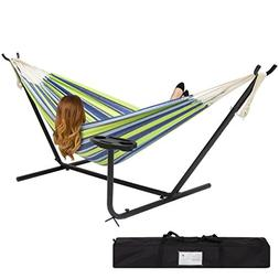 Best Choice Products Double Hammock And Steel Stand W/ Cup H