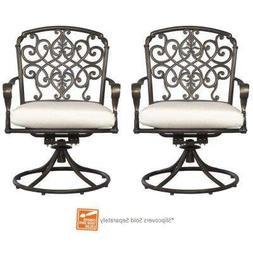 Edington Swivel Patio High Dining Chair with Bare Cushion