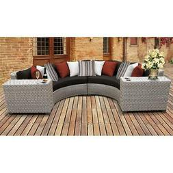 Florence 4 Piece Outdoor Wicker Patio Furniture Set 04c in B