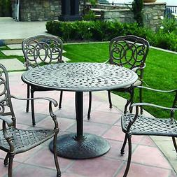 Darlee Florence 5 Piece Patio Dining Set With Pedestal Table