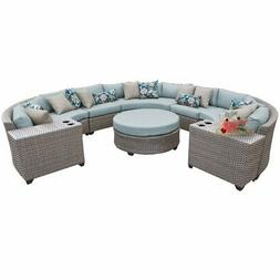 Florence 8 Piece Outdoor Wicker Patio Furniture Set 08b in S