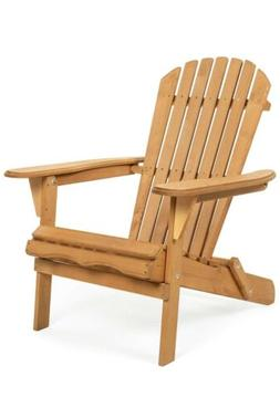 Best Choice Products Folding Wood Adirondack Chair Accent Fu
