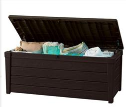 Functional Brown Plastic Storage Deck Box - excellent Additi