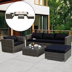 Tangkula Patio Furniture Set 6 Piece Outdoor Lawn Backyard P
