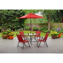 Garden Furniture Outdoor Patio Dining Set w/ Umbrella Shade