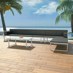 vidaXL Garden Sofa Set 17 Pieces Textilene Aluminum Outdoor