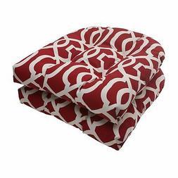 Pillow Perfect New Geo Wicker Seat Cushion