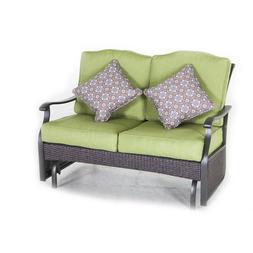Glider Garden Bench Loveseat Seats 2, Outdoor Wicker Home Pa