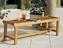 Grade A Teak Wood Luxurious Outdoor Garden 55 Backless Bench