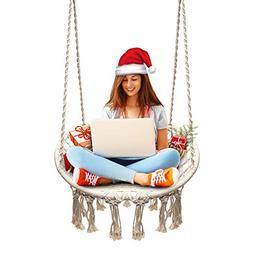 Sonyabecca Hammock Chair Macrame Swing 265 Pound Capacity Ha
