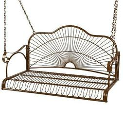 Hanging Outdoor Swing Bench Best Choice Products Iron  Patio