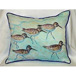Betsy Drake HJ269 Sandpipers Art Pillow 15 in. x 22 in.