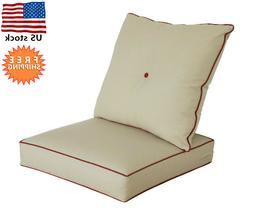 Bossima Indoor/Outdoor Light Khaki Deep Seat Chair Cushion S