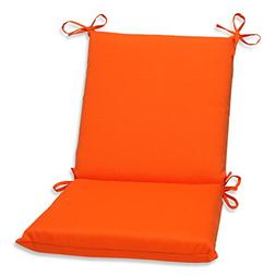 Pillow Perfect Outdoor Sundeck Squared Chair Cushion, Orange