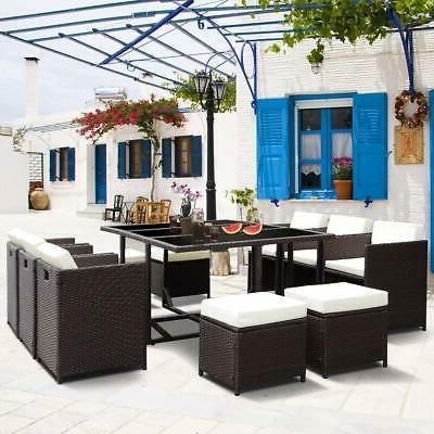 11 pcs patio furniture wicker rattan outdoor
