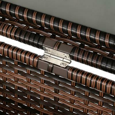 132 Wicker Storage Box Garden Brown