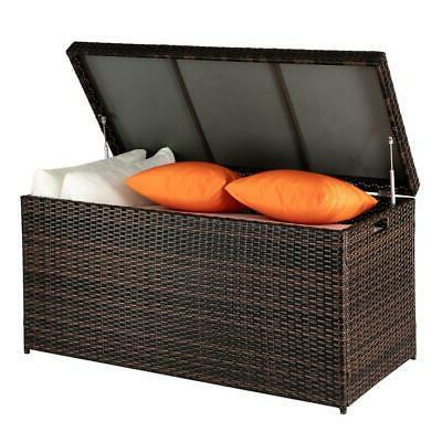 132 Wicker Storage Deck Box Patio Furniture US SHIP