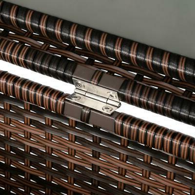 132 Wicker Storage Deck Box Garden Furniture US SHIP