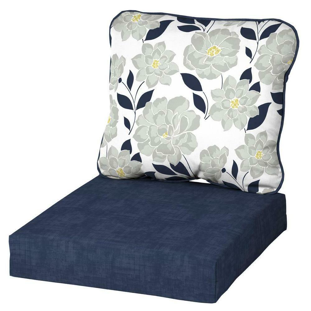 "24"" Outdoor Deep Seat Chair Patio Cushions Set Pad UV & Fade"