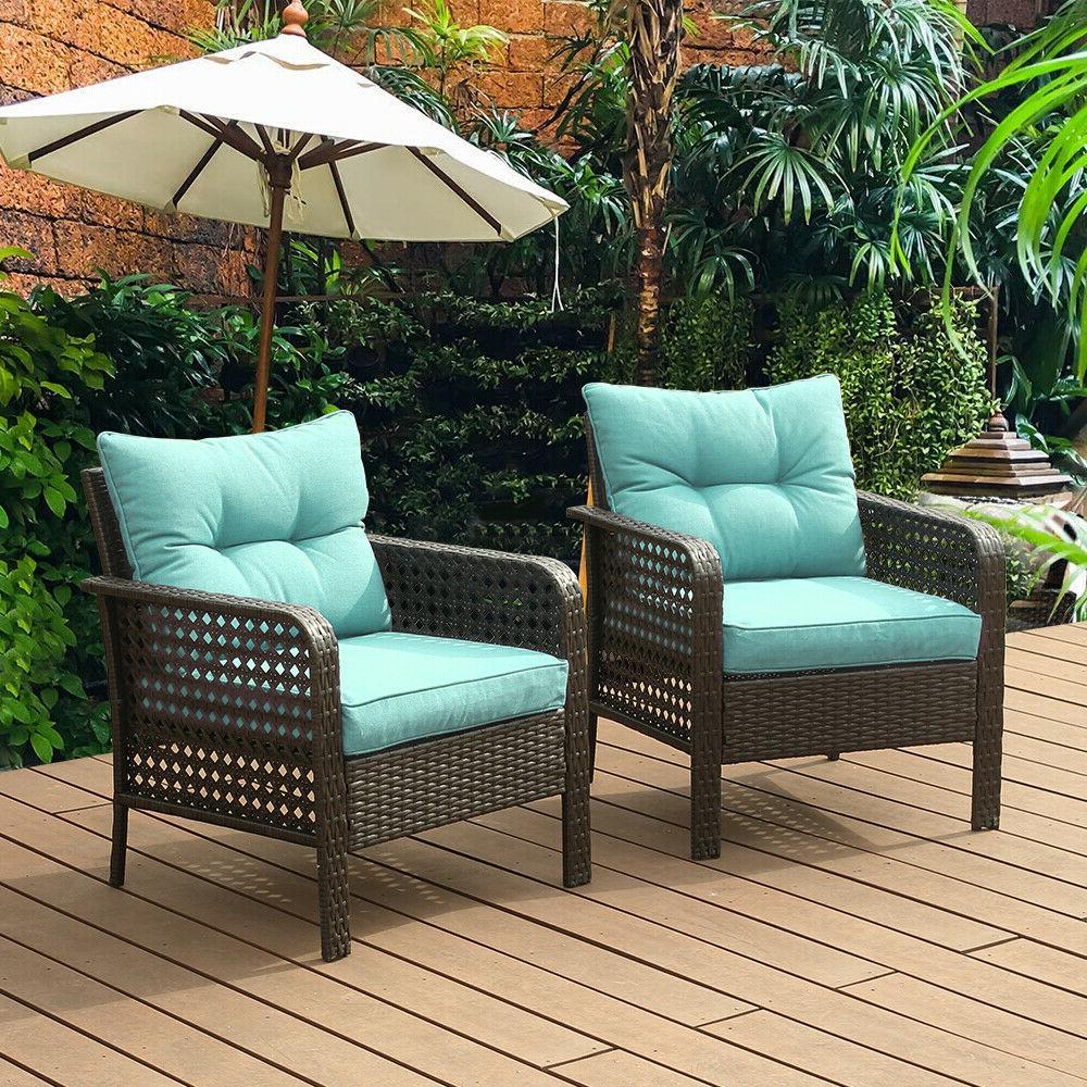 2PC Set Wicker Garden Outdoor Sectional
