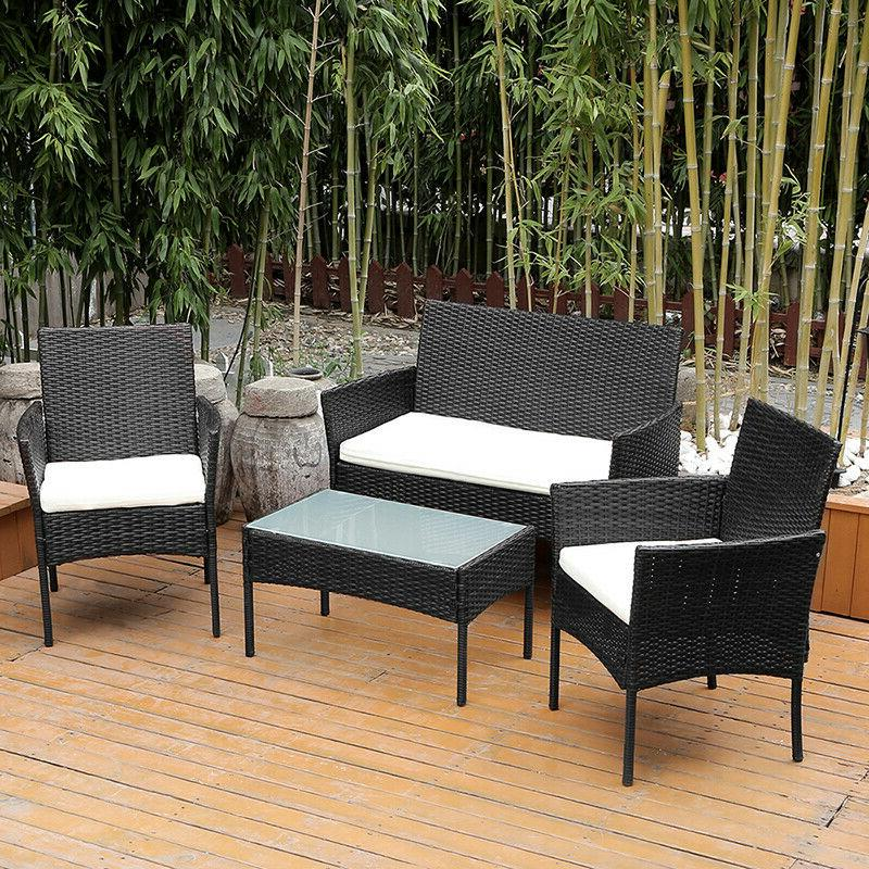 Patio PCS Wicker Furniture Table Garden