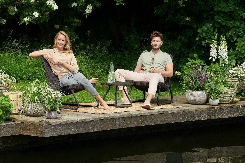 Keter Rio Patio Garden Chair & Set Brown