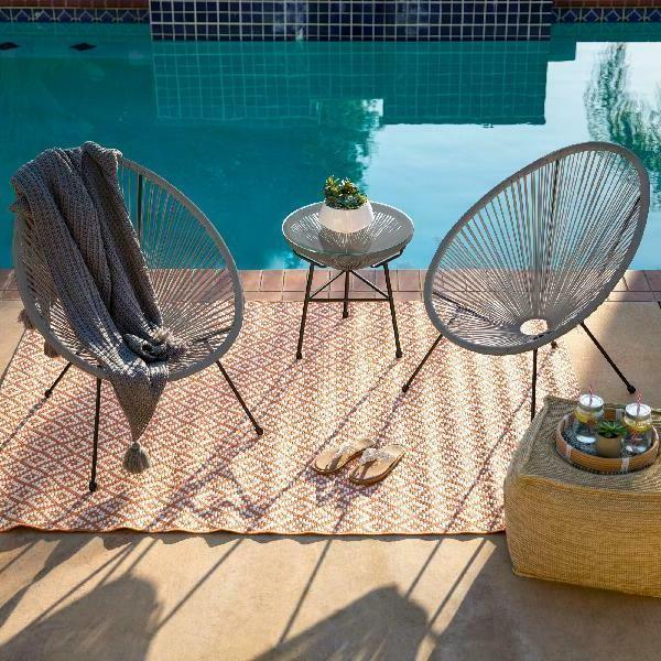 Best Choice 3-Piece All-Weather Patio Bistro Furniture w/