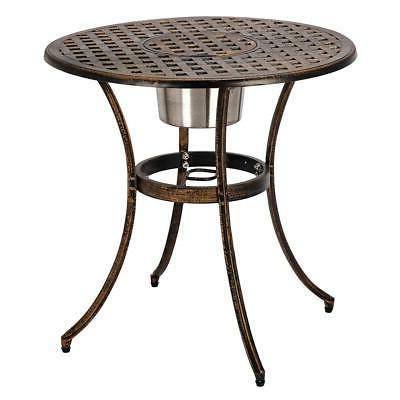 3-Piece Outdoor Patio Bistro Furniture Table