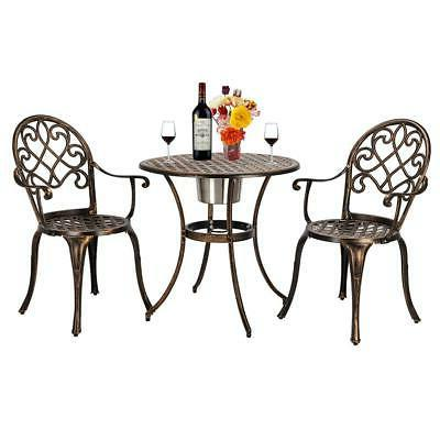 3-Piece Patio Bistro Patio Furniture Chair