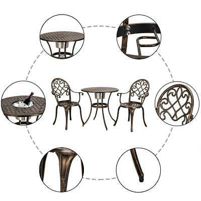 3-Piece Patio Bistro Furniture Chair