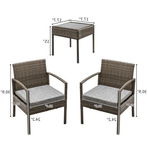 Conversation Set Furniture Cushioned