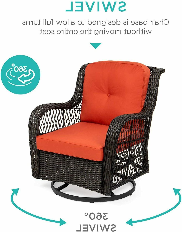 3-Piece Wicker Furniture Set Cushioned