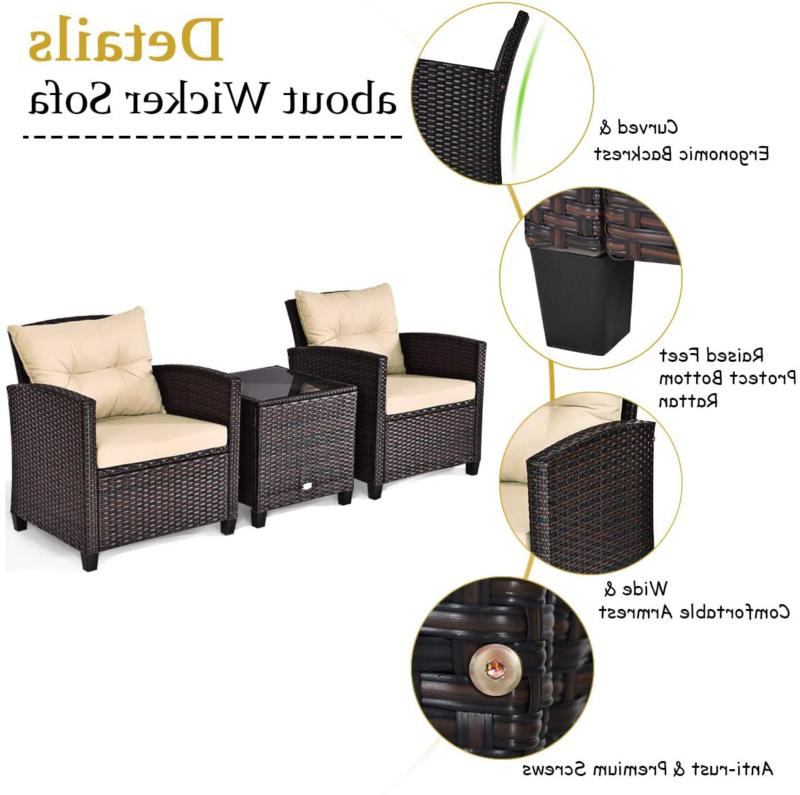 Wicker Pcs Outdoor Sofa Set