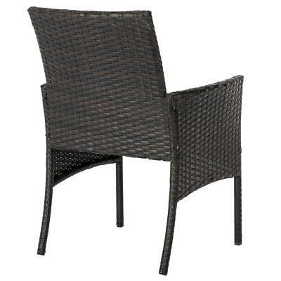 3Pcs Furniture Sofa Garden Yard /w Cushions Table Chair