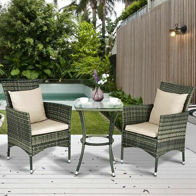 3PCS Rattan Furniture Set & Garden