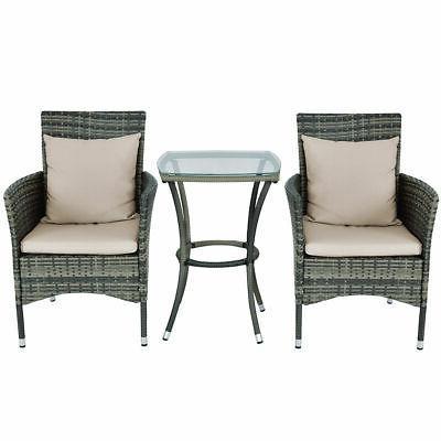3PCS Patio Furniture Set Chairs &