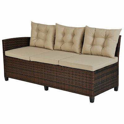 3PCS Patio 6 Sofa for Use