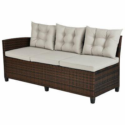 3PCS Patio Furniture 6 Sofa for Use