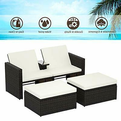 3Ps Storage Lounge w/Cushions Patio