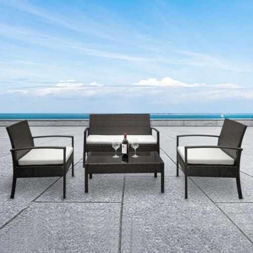 4 Furniture Garden Lawn Sofa Cushion Seat