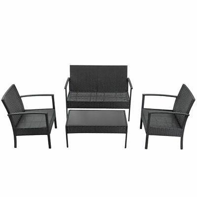 4 Rattan Wicker Set Table