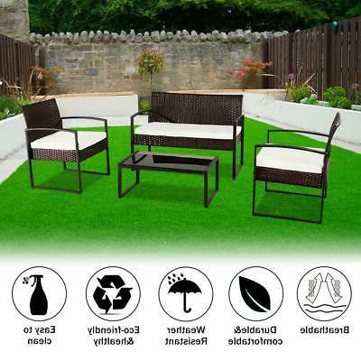 4 PCS Outdoor Patio Sofa
