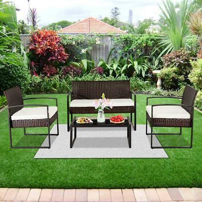 4 Sofa Wicker Furniture Garden