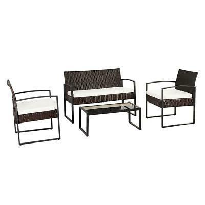 4 Outdoor Patio Sofa Rattan Furniture
