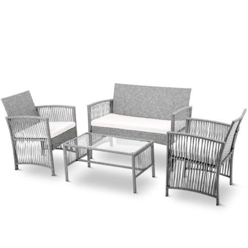 4PCS Wicker Table Furniture Set