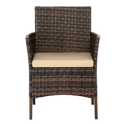 4PC Sofa Rattan Furniture Table Cushion