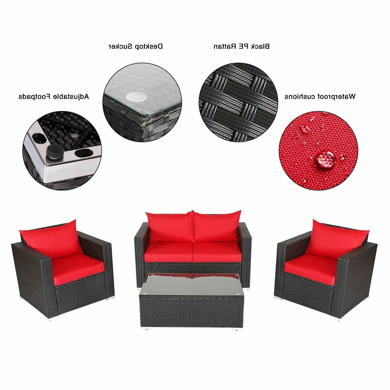 4PC Set Garden Patio Furniture