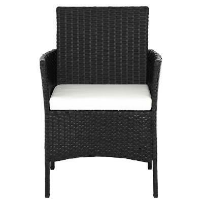 Black Wicker Table Sofa Furniture Set